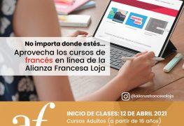 Alianza Francesa de Loja invita a sus cursos virtuales